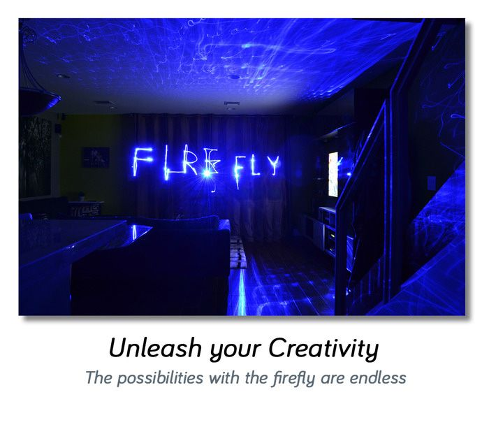 Firefly Lights: Blue Home Laser Lamps With Passive Cooling Technology