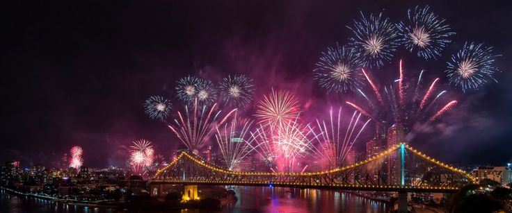 River Festival - Riverfire is a fireworks display put to music every year during the Brisbane river festival. QLD, Australia