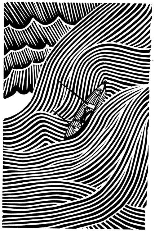 stanley donwoodStanley Donwood, Lino Prints, Illustration, Thames Estuary, Lino Cut, Linocut, Line Art, Stormy Sea, Under Sea