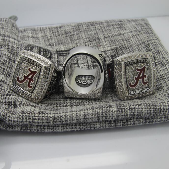2015 Alabama Crimson Tide SEC FOOTBALL FINAL National Championship Ring 7-15 Size  Engraved Inside