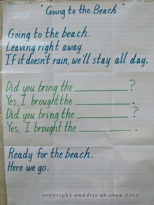 """Going to the Beach"" song adaptation sung to the tune of ""Going On a Picnic"""