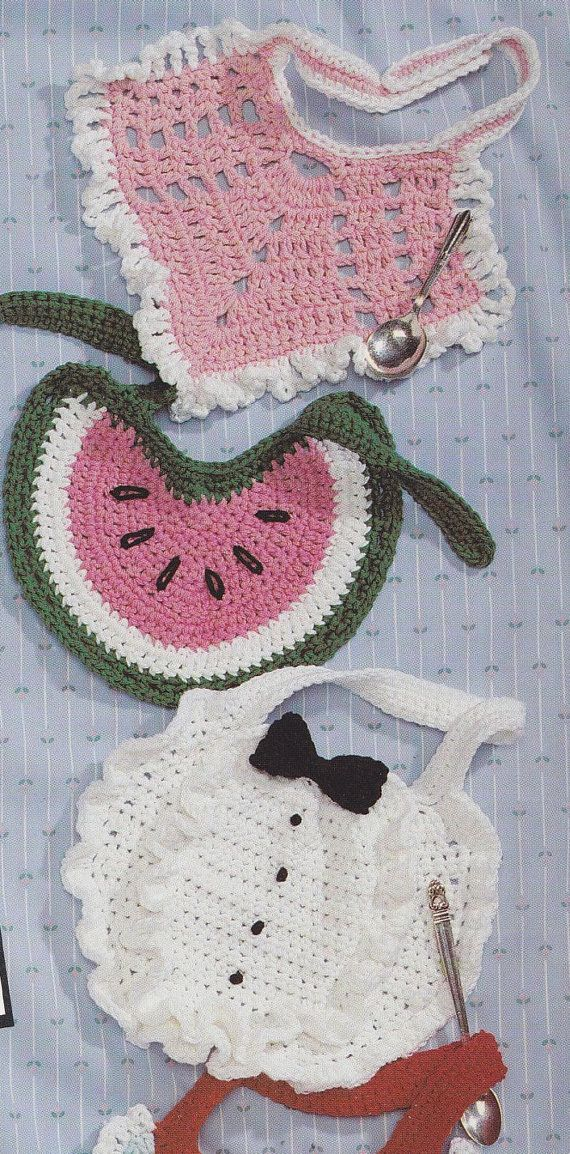 Crochet Patterns Baby Bibs : 441 best crocheted kids clothes images on Pinterest