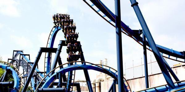 Ninja Ride Six Flags Over Georgia Atlanta Attractions Roller Coaster Riding