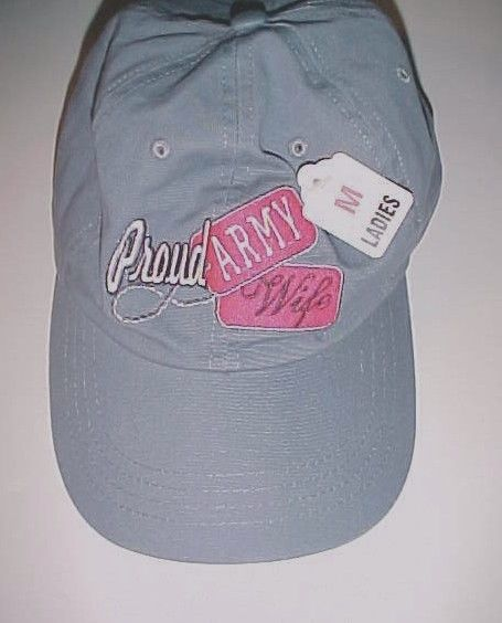 Proud Army Wife Ladies Gray Baseball Cap Hat M New #Unbranded #BaseballCap