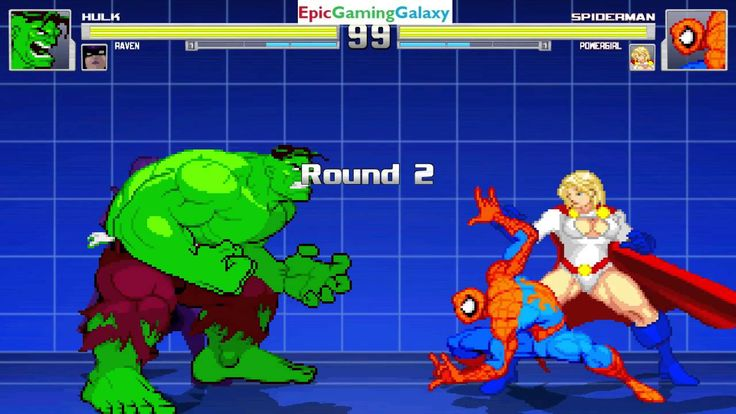 The Hulk And Raven VS Power Girl And Spider-Man In A MUGEN Match / Battle / Fight This video showcases Gameplay of The Hulk And Raven The Member Of The Teen Titans VS Power Girl The Superheroine And Spider-Man The Superhero In A MUGEN Match / Battle / Fight