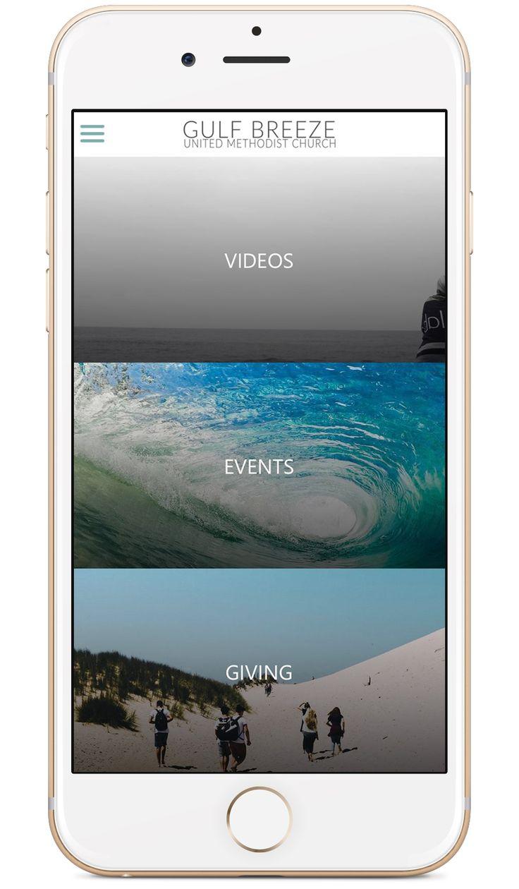 Gulf Breeze United Methodist Church's custom church app built by Tithe.ly - #churchapps.  Get a custom church app for you church - $0 setup and $0 for first six months!  http://get.tithe.ly/mobile-church-app/  #mobileapp #churchapp #mobiledesign #appdesign #appsforchurches #churchapps