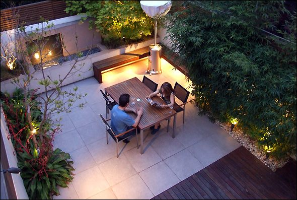 Urban garden designs by MyLandscapes London. Bamboo screening