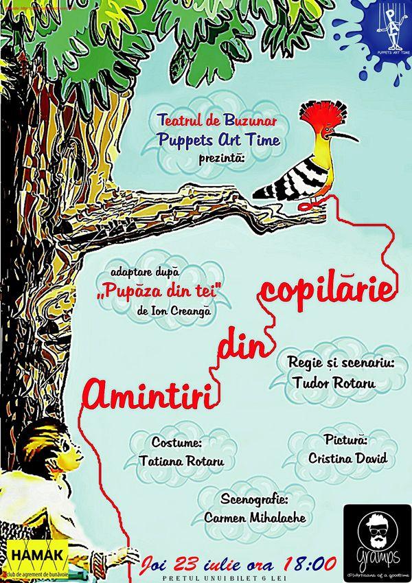 Spectacol de teatru pentru copii, în premieră la Hamak