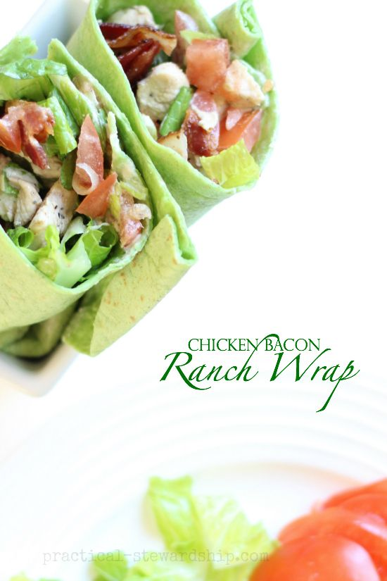 Chicken Bacon Ranch Wrap, Meal On-the-Go, DF opt.