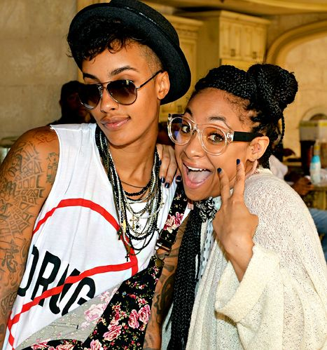 Raven-Symone and rumored girlfriend AzMarie Livingston at LudaDay.