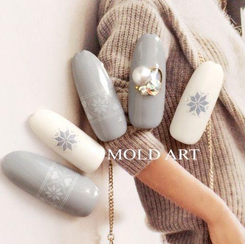 Japanese Nail Trends; Nordic Pattern Nail