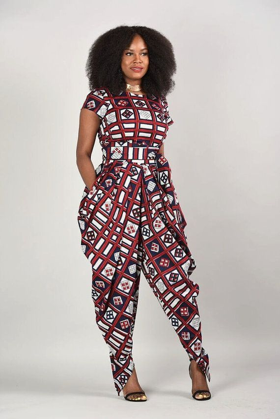 cool Emem Harem Jumpsuit- African print clothing