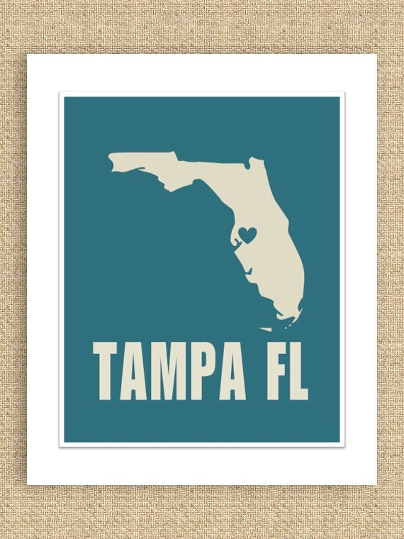 I Heart Tampa, Florida graphic.