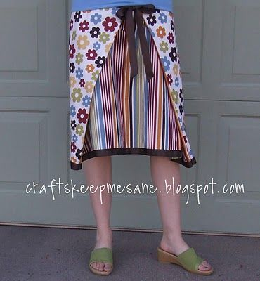 Reversible wrap-around skirt...cute!  (Directions are a little unclear at times, but the pictures help.)