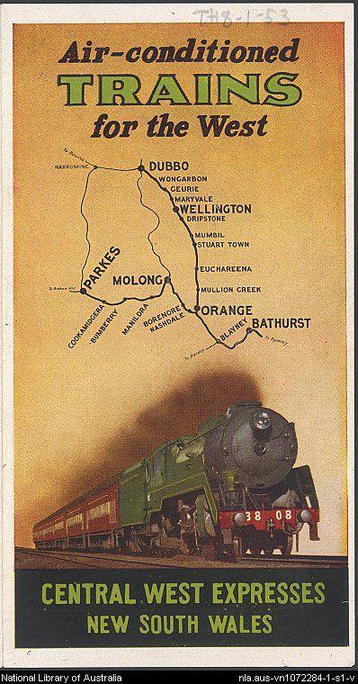 Railways (N.S.W.) .Australia Trains for the West.