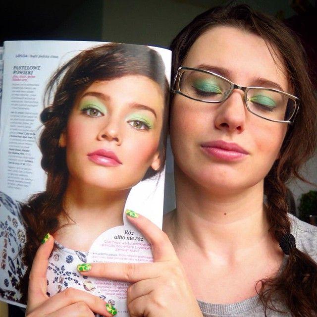 #inspired #wiosna #makeup #makijaz #inspiracje #mietowy #seledynowy #mint #womenshealth