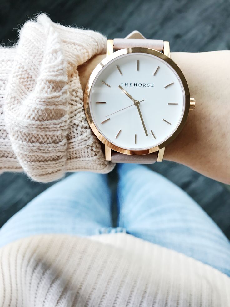 The horse watch! Rose Gold Blush Genuine Leather