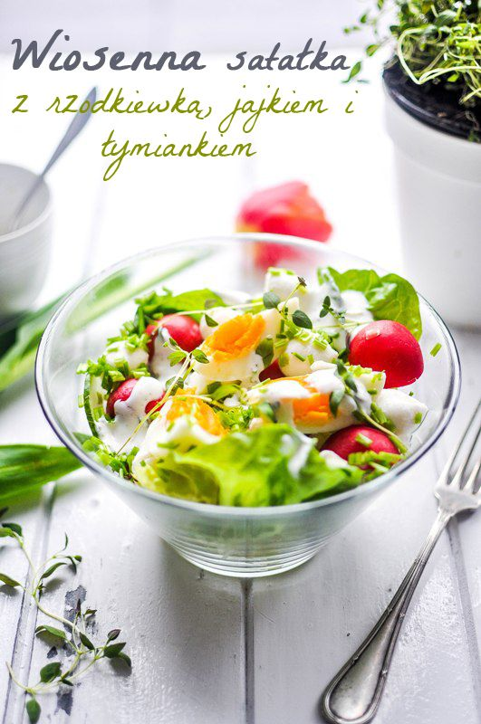 Pyszne Kadry: Wiosenna sałatka z rzodkiewką, jajkiem i tymiankiem