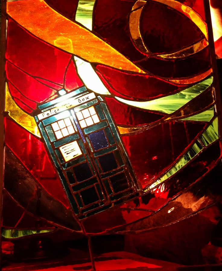 Gorgeous stained glass Tardis - http://i.imgur.com/Bq3ML.jpg