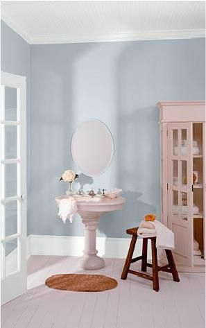 Cumberland Fog Behr Paint Color Using This For Main Color In Kitchen With Crisp White Trim And