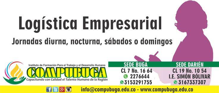 Aprovecha esta gran oportunidad. #Estudia #Logística #Empresarial obtén nuestro bono regalo para toda la carrera. #Compubuga #Buga #Inscripcionesabiertas