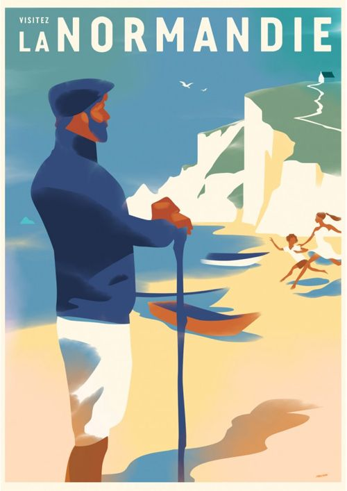 Vintage Travel Posters by Mads Berg