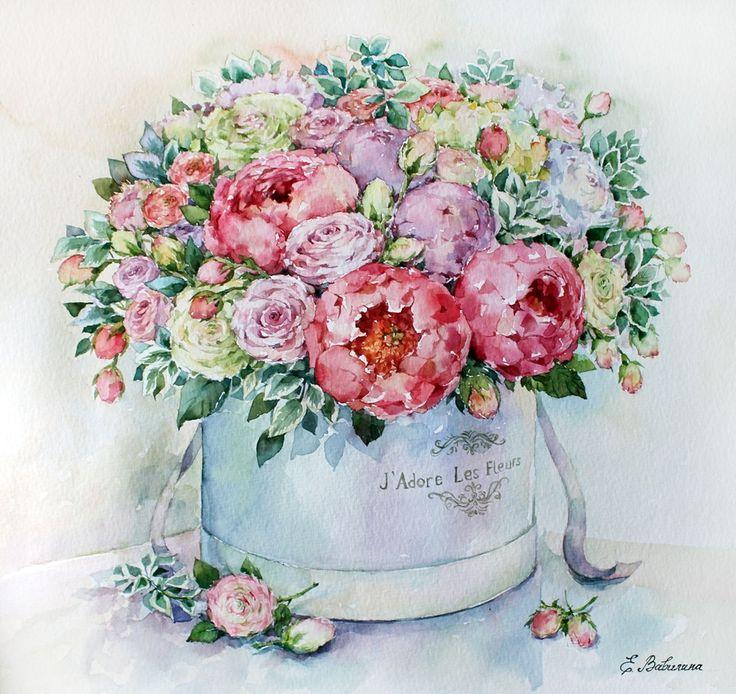букеты цветов нежные рисунки также, как приняла