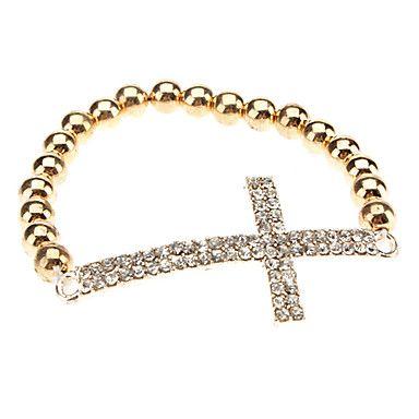 Kristall-seitlich Kreuz Unendlichkeit Stretch-Armband – EUR € 2.29