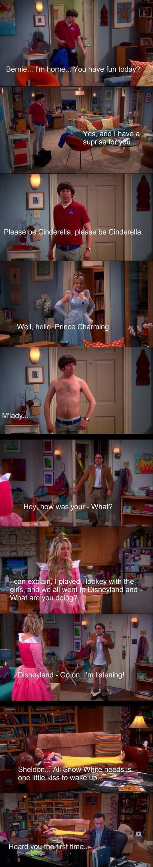 Funny - When The Big Bang Theory meets Disney. One of my favorite episodes.