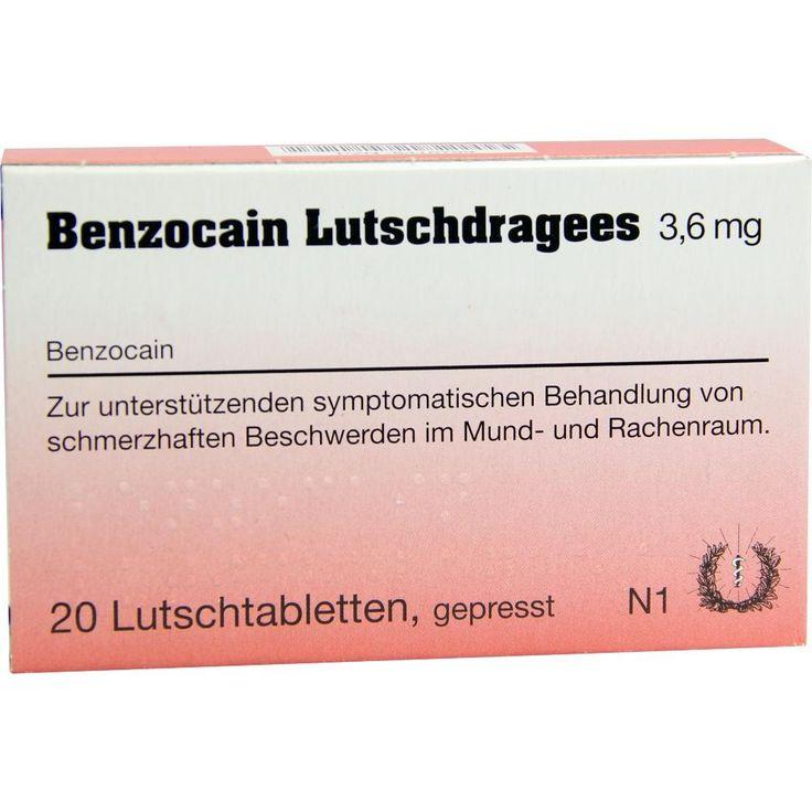 BENZOCAIN Lutschdragees:   Packungsinhalt: 20 St Lutschtabletten PZN: 06416799 Hersteller: Inresa Arzneimittel GmbH Preis: 3,29 EUR inkl.…