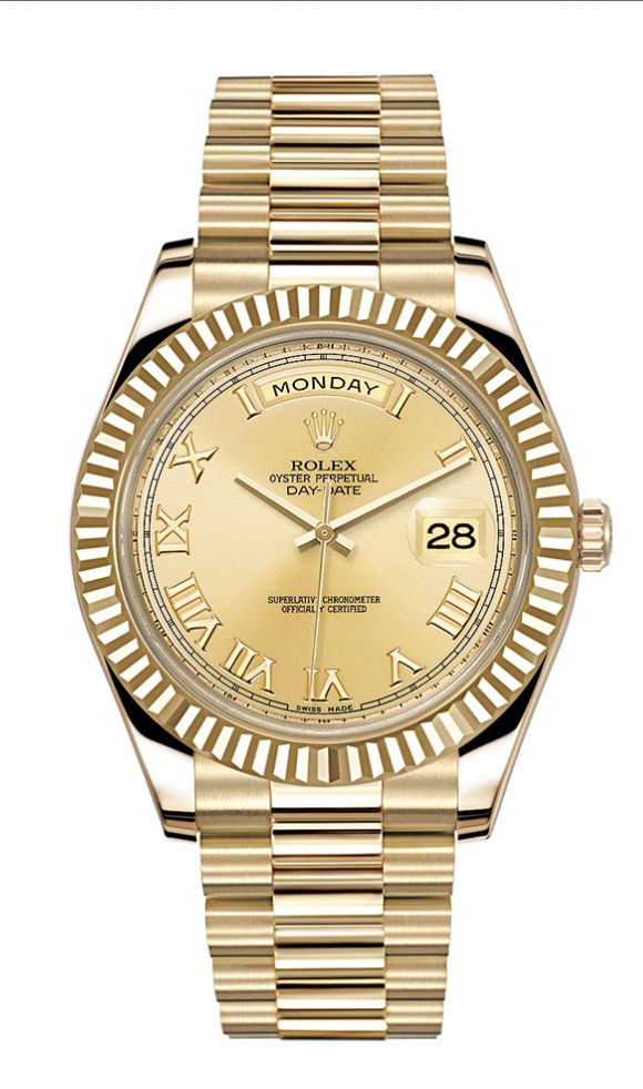 A gold Rolex, the timekeeping trinket of choice for Rita Ora. See Ora and all her favorite things in October 2014 Fanfair My Stuff.