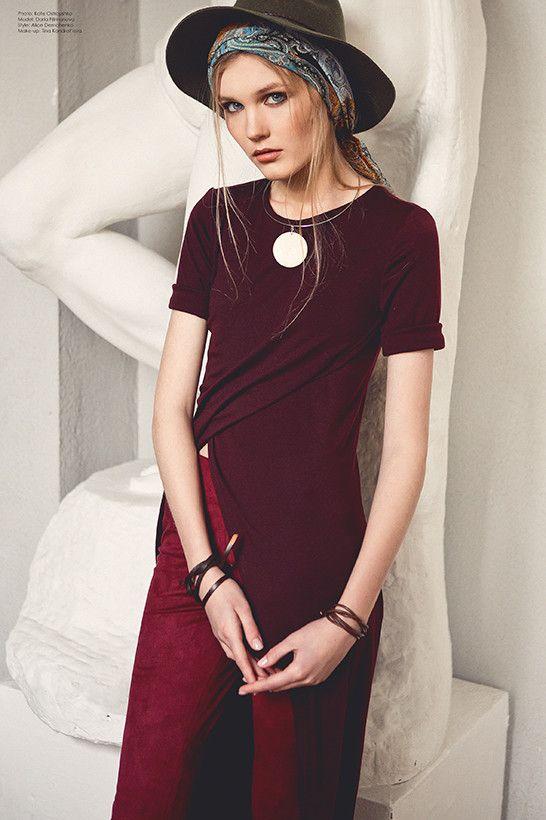 Stylowa #tunika idealnie komponuje się z #legginsami, #jeansami, krótkimi #spódnicami.  GRANDUA_MUZA_2016 | Odzież damska THE COVER