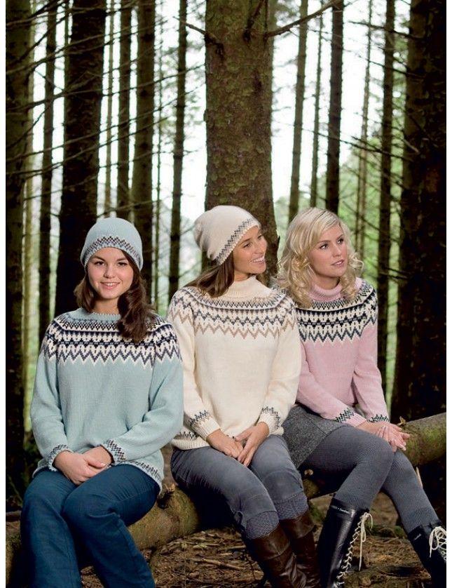 Lofoten-genser i sommerlig utgave. Garnpakke i Lerke merino/bomull fra Dale Garn.