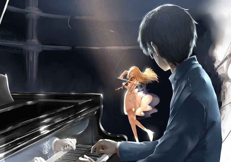Anime 3500x2450 Shigatsu wa Kimi no Uso Arima Kousei Miyazono Kaori