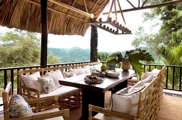 Jeffrey Alan Marks  #Belcampo  private Jungle dining room in Belize