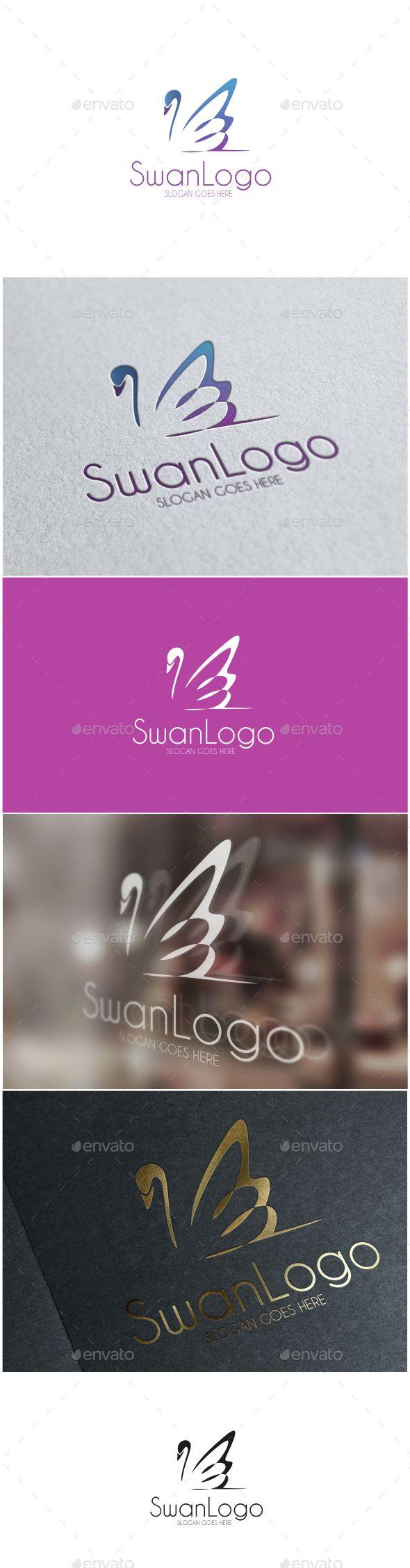 Swan  Logo Design Template Vector #logotype Download it here: http://graphicriver.net/item/-swan-logo/14674376?s_rank=1703?ref=nexion