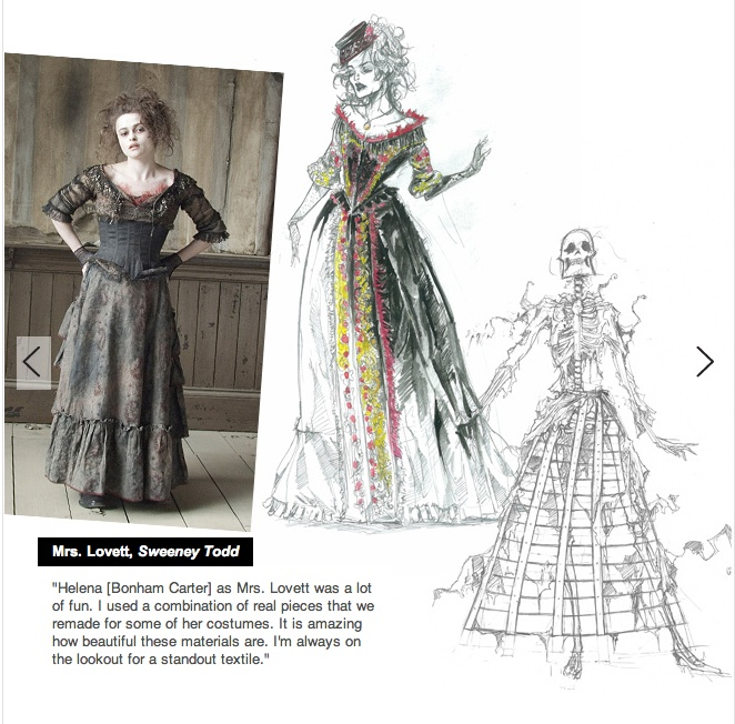 Mrs. Lovett costume design by Colleen Atwood Sweeney Todd (2007)