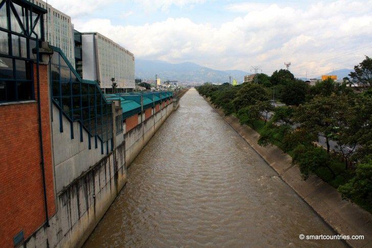 Medellin River in Medellin, Colombia.