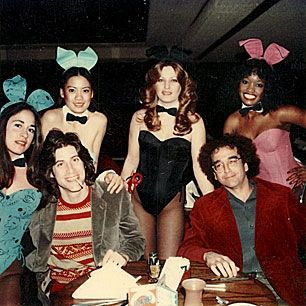 Richard Lewis and Larry David at the Playboy club in the early 1980s.