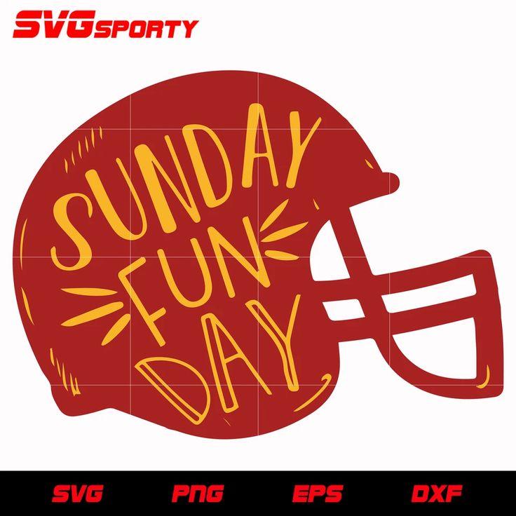 Sunday Funday Chiefs svg, nfl svg, eps, dxf, png, digital