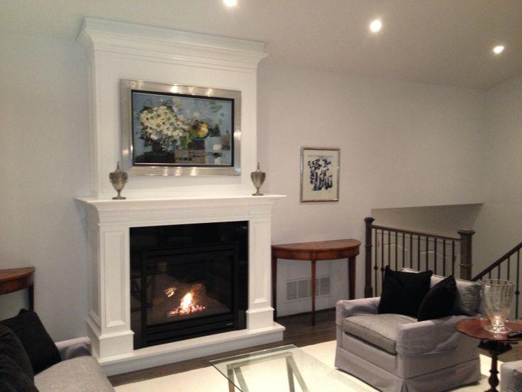 custom cabinet and heat n glo slimline 550 gas fireplace