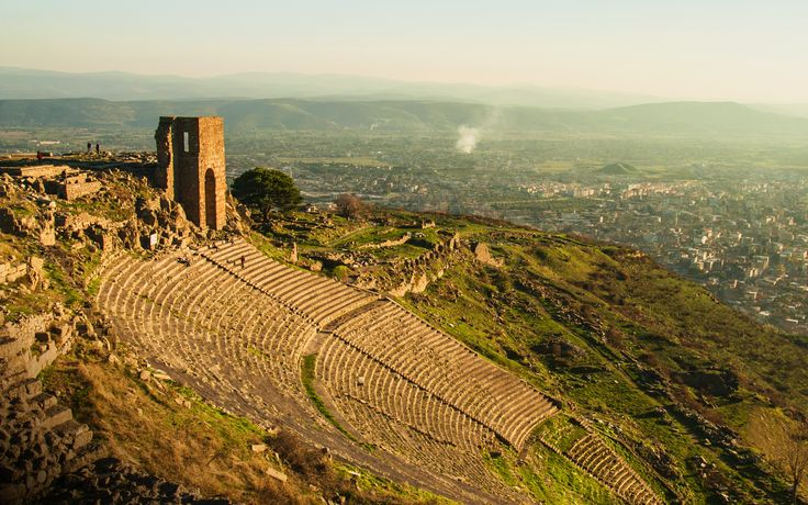 The theatre of the ancient city Pergamon in İzmir.