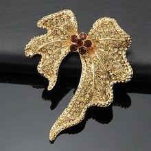 Star ювелирные изделия винтажный серебро и золото тон кристалл горный хрусталь свадьба букет куча цветок брошь женщины брошь(China (Mainland))