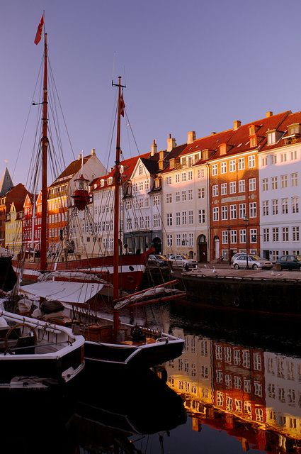 The beautiful old harbour in Copenhagen, Denmark, is easy to reach by car for visitors from the UK. Take the ferry from Harwich to Esbjerg and enjoy a 3 hour drive through beautiful Danish countryside. Perfect! http://ferrycrossings.org.uk/denmark/harwich-to-esbjerg/