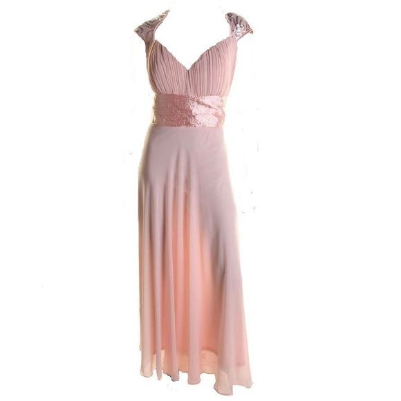 """NWT EVER PRETTY PINK sequined dress SZ 12 - formal EVER PRETTY Pink Sequined Evening Dress 12/Slim Fit- ships 1-12-16- bookmark or buy & secure.  Size :12 - fits like a Juniors/Misses 12 (this is a USA sized Dress! Charts are in my closet & I will not surprise you with a smaller sizing. All USA sizes unless specified).Collection; Pink Make You Pretty Forever, Empire waist, Cap Sleeve, Hidden Side Zipper, Full-Length, Total Length: 67"""", Bust Across: 20"""", Waist Across: 16 3/4"""", Hips Across…"""