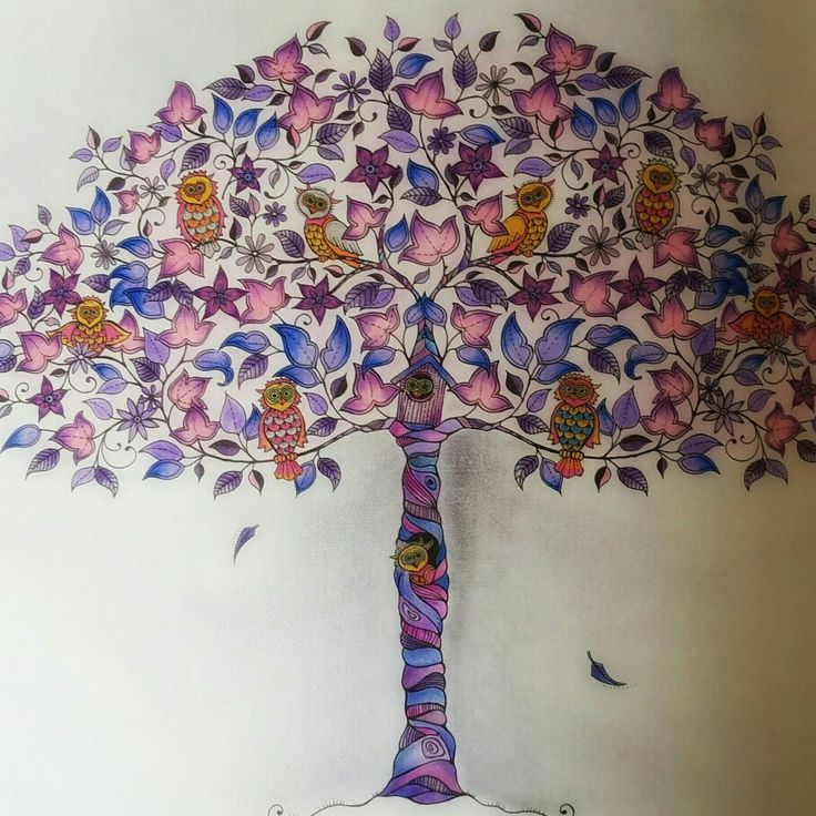 Secret Tree From Garden Coloringbook Coloured By Zsuzsiko