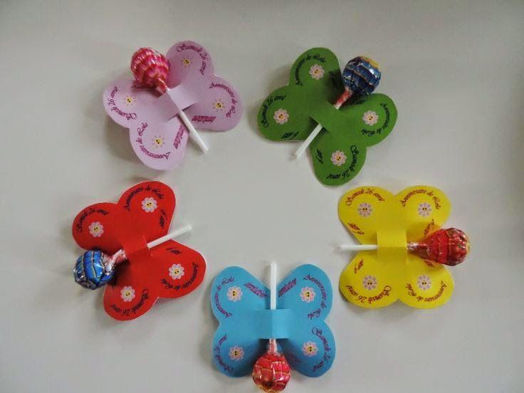 idée anniversaire : des sucettes en forme de papillons