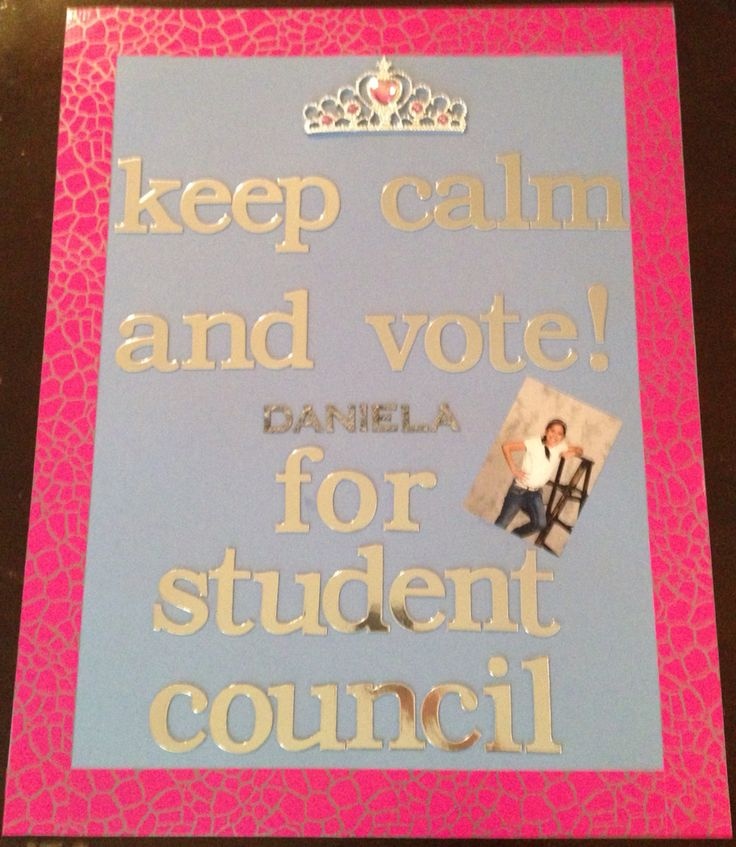 how to make campaign posters for student council
