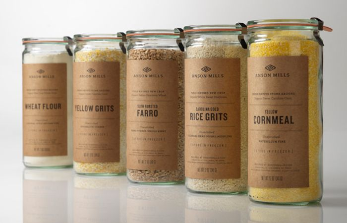 Anson Mills - on the dieline - nice work by Design is play, very true to the brand