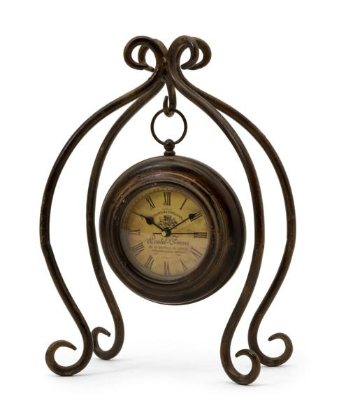 Iron Hanging Clock With Stand Clock